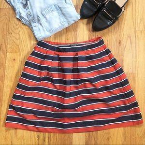 J Crew striped skirt, size 0